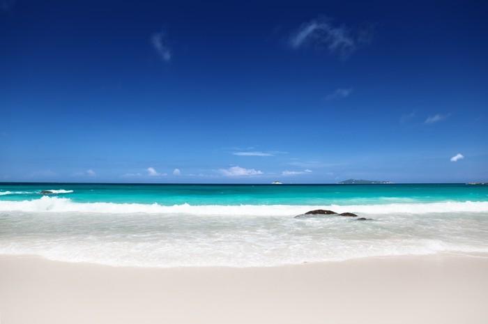 Vinylová Tapeta Pláž u Ostrov Praslin, Seychely - Voda
