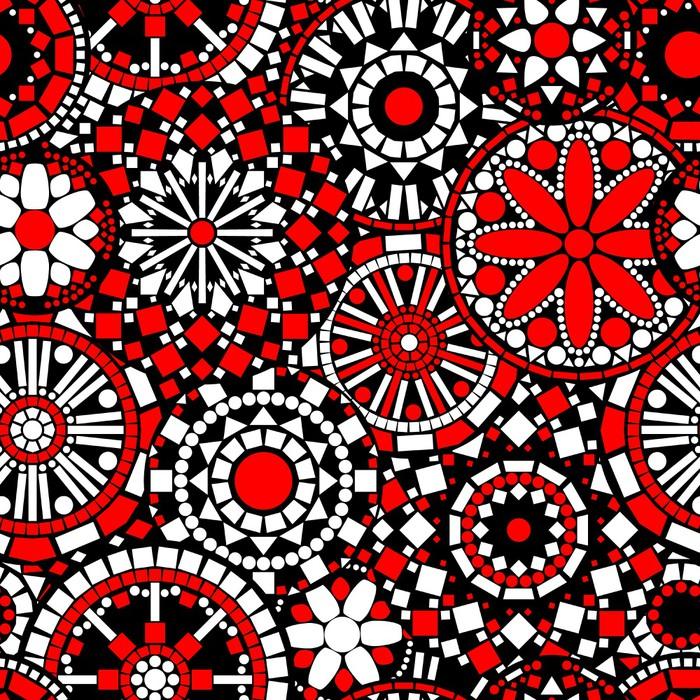 papier peint mandalas de fleurs cercle seamless dans le. Black Bedroom Furniture Sets. Home Design Ideas