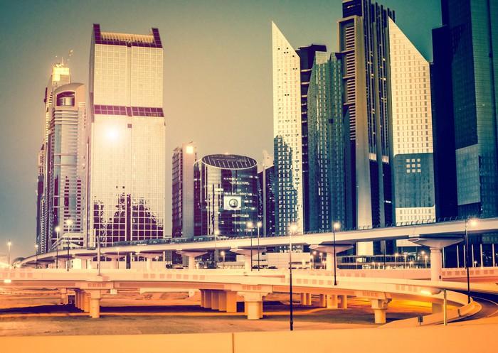 Vinylová Tapeta Večer městskou krajinu - Asie