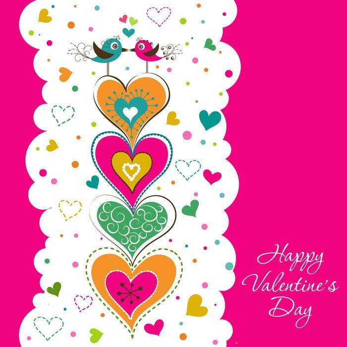 Vinylová Tapeta Šablona Valentine blahopřání, vektor - Mezinárodní svátky