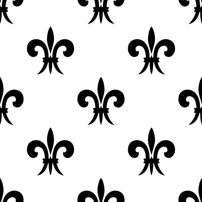 Vinylová Tapeta Opakujte bezešvé vzor Fleur de Lys - Pozadí