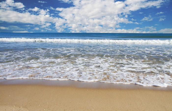 Vinylová Tapeta Tropické pláže s modrou oblohou - Prázdniny