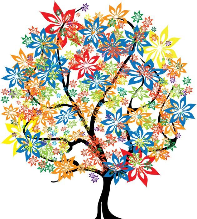 Papier peint arbre pixers nous vivons pour changer - Papier peint motif arbres ...