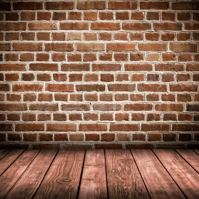 Red Brick Wall And Wooden Floor Interior Wall Mural Pixers We