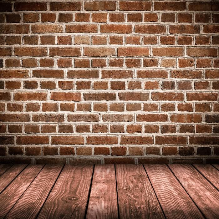 Carta da parati muro di mattoni rossi e interni pavimento for Carta da parati muro di mattoni