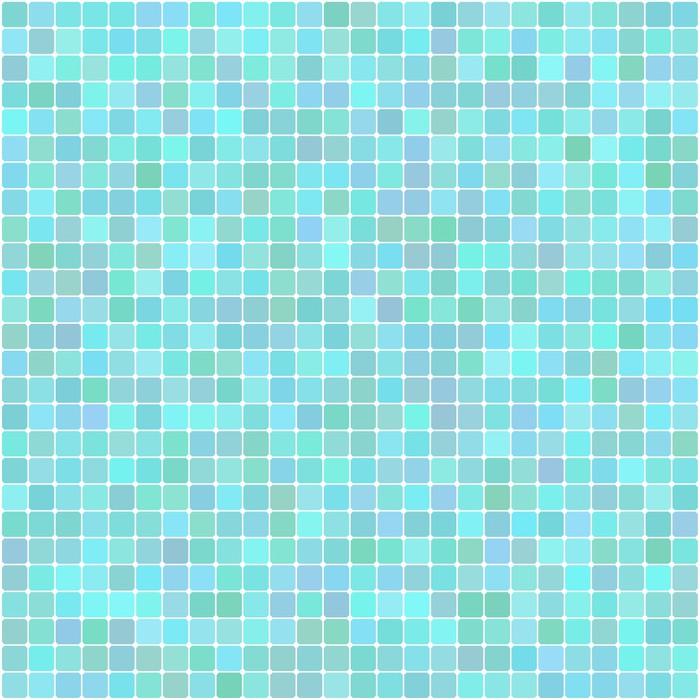 Sticker Vecteur de fond de turquoise lumineux carré de mosaïque ...