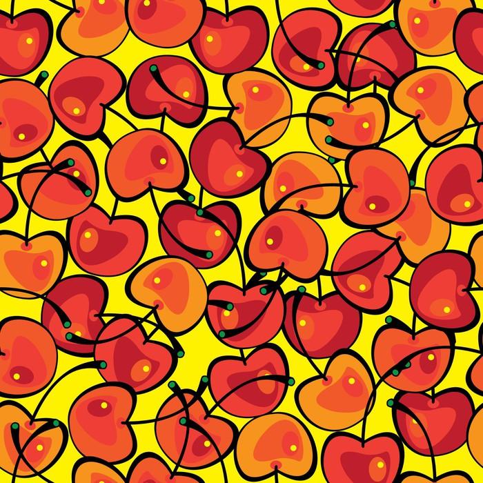 Vinylová Tapeta Vícebarevný cherry bezešvé vzor - Pozadí
