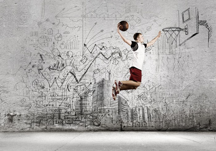 Basketball player wall mural pixers we live to change for Basketball mural