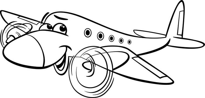 Vinilo para Puerta Avión de aire para colorear de dibujos animados ...