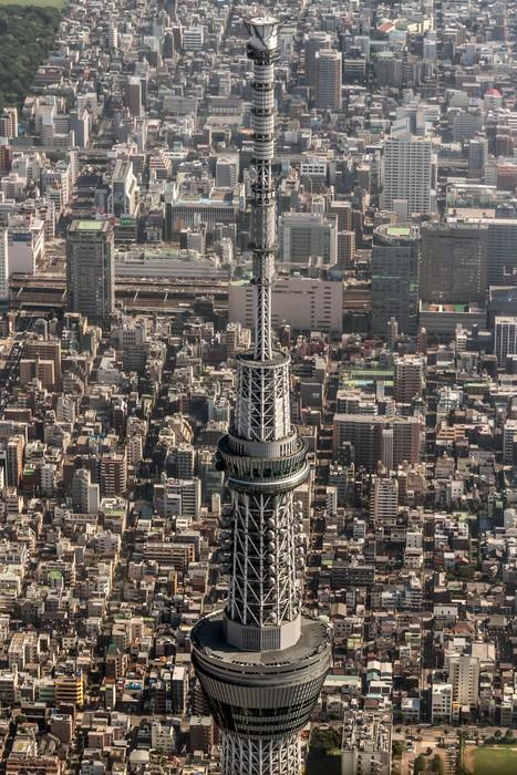 Vinylová Tapeta Letecký pohled na Tokyo Sky Tree - Asijská města
