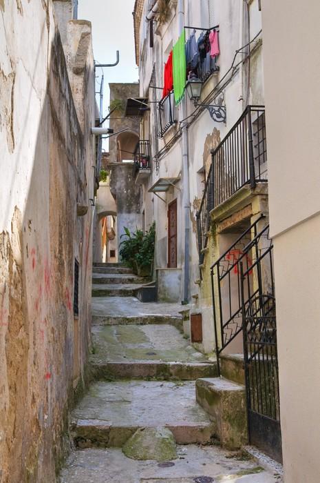 Vinylová Tapeta Ulička. Ischitella. Puglia. Itálie. - Témata