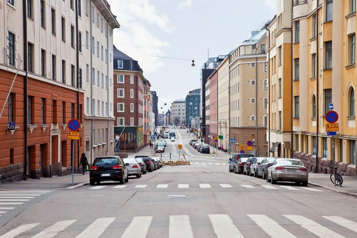 Vinylová Tapeta Město Helsinki. Panoráma města - Infrastruktura