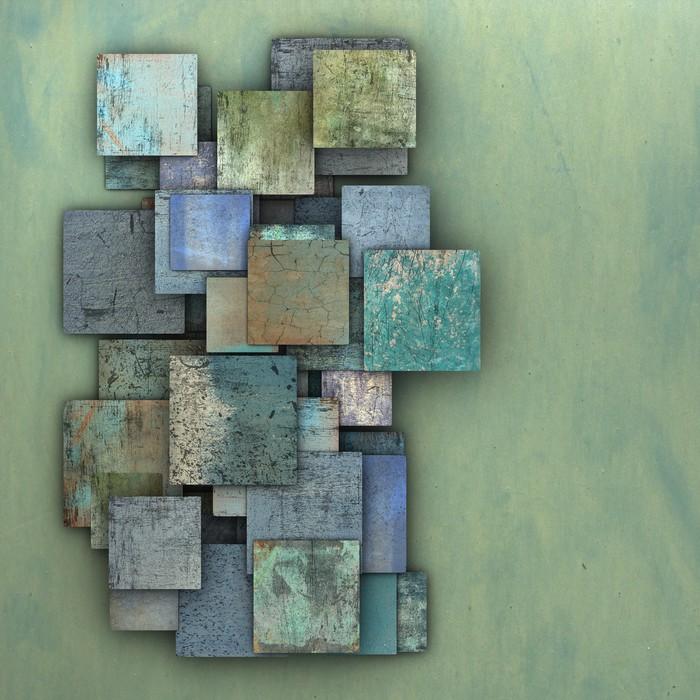 poster 3d fragmentiert blau gr ne quadrat grunge fliesen pixers wir leben um zu ver ndern. Black Bedroom Furniture Sets. Home Design Ideas