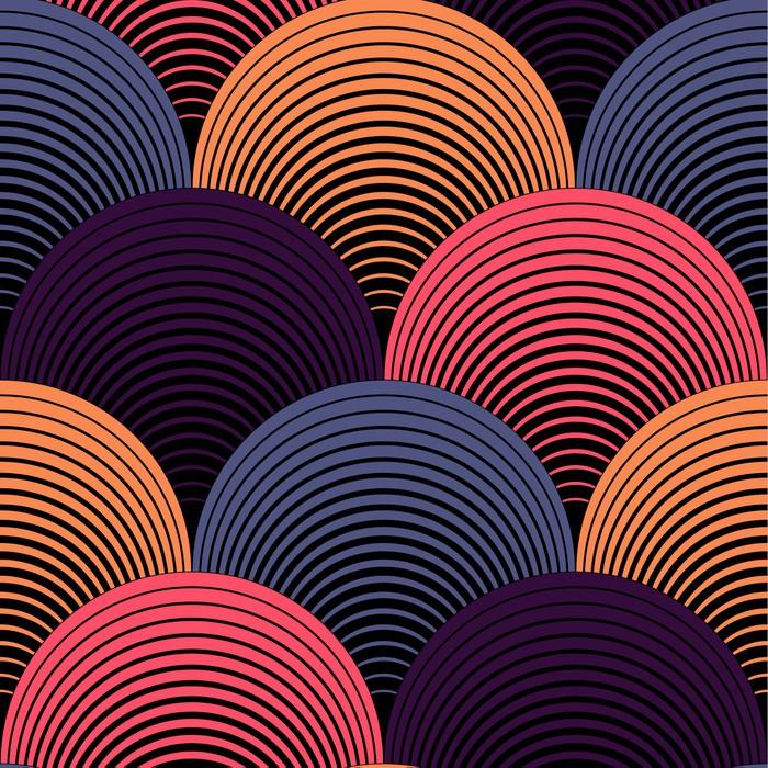 Vinylová Tapeta Ozdobený Geometrické Petals Grid, abstraktní vektorové bezešvé vzor - Témata