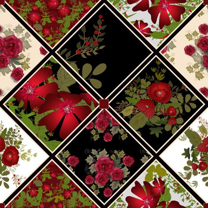 Vinylová Tapeta Patchwork barevné bezešvé vzor - Pozadí