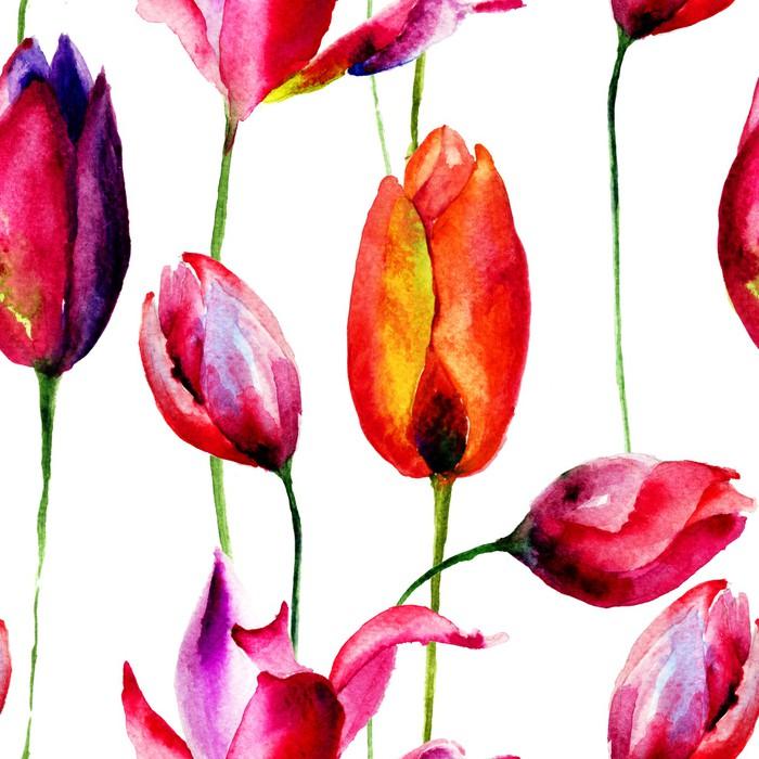 Tableau sur toile illustration d 39 aquarelle de fleurs for Aquarelle fleurs livraison gratuite