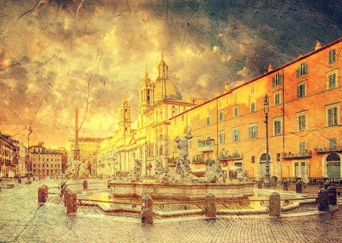 Vinylová Tapeta Piazza Navona, Řím, Itálie - Evropská města