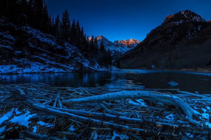 Nálepka Pixerstick Hnědá zvony Sunrise, Colorado - Amerika