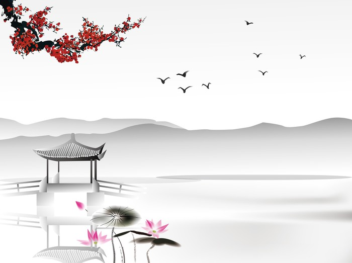 Chinese Painting Wall Mural Pixers 174 We Live To Change