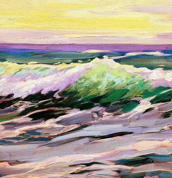 Amato Carta da Parati Paesaggio di mare con onda, dipinto di olio su  AD72