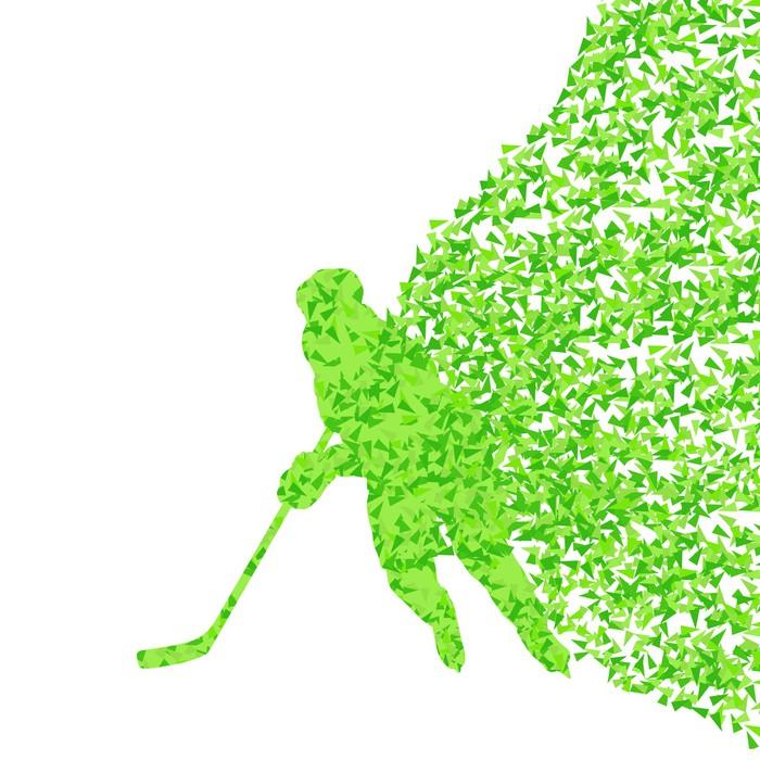 Vinylová Tapeta Hokejista siluetu sport abstraktní vektor pozadí co - Jiné pocity
