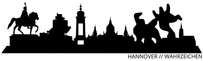 Vinylová Tapeta Hannover Skyline // // Wahrzeichen Silhouette - Prázdniny