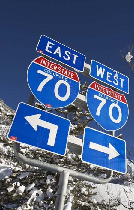 Vinylová Tapeta Interstate 70 Colorado - Na cestě