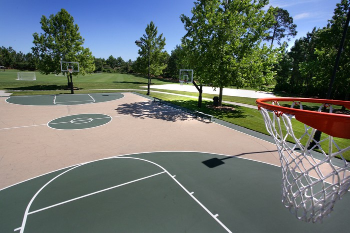 Outdoor Basketball Court Wallpaper • Pixers® • We live to ...