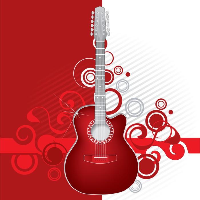 fototapete red guitar pixers wir leben um zu ver ndern. Black Bedroom Furniture Sets. Home Design Ideas