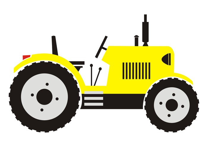 yellow tractor Wall Decal • Pixers® • We live to change