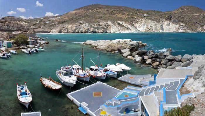Vinylová Tapeta Mantrakia, ostrov Milos, Cyclades, Greece - Evropa