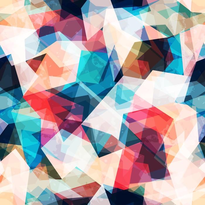 Aufkleber farbigen mosaik nahtlose muster mit grunge for Mosaik aufkleber