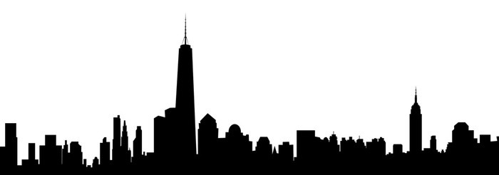 new york skyline vector wall mural u2022 pixers u2022 we live to change rh pixers us new york skyline silhouette vector new york skyline vector free