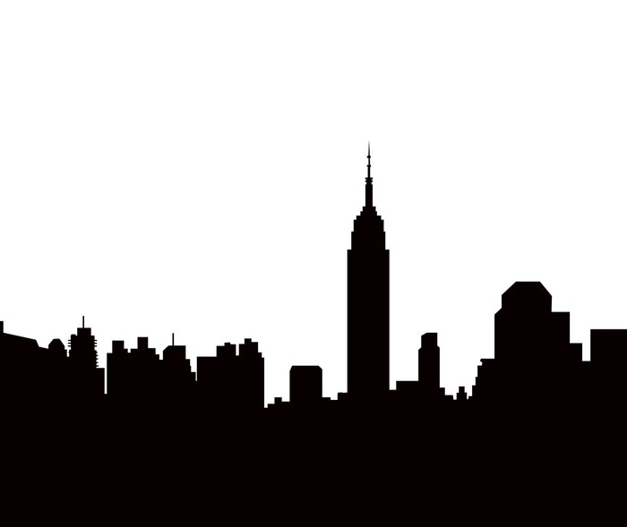 new york skyline vector wall mural u2022 pixers u2022 we live to change rh pixers us new york skyline silhouette vector new york skyline vector art