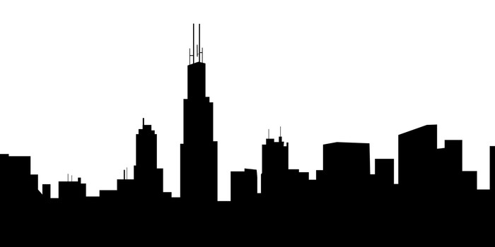 chicago skyline vector wall mural u2022 pixers u2022 we live to change rh pixers us chicago skyline vector download Chicago Skyline Wallpaper