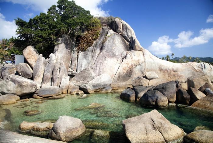 Vinylová Tapeta Dědeček rock a Velká matka rock, Lamai Beach, Koh Samui - Asie
