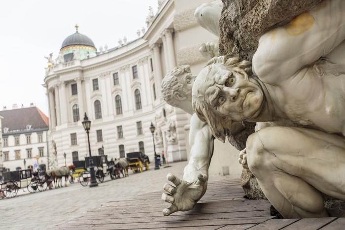 Vinylová Tapeta Power, o územním kašna na Michaelerplatz ve Vídni - Evropská města