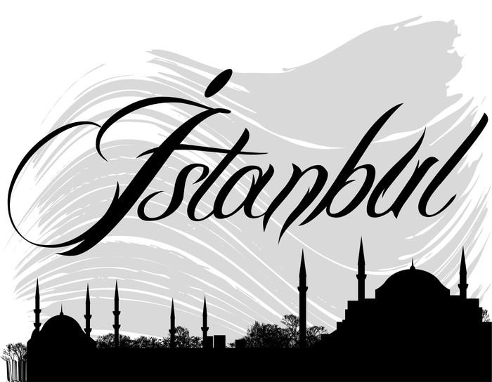 Vinylová Tapeta İstanbul silueta - Náboženství