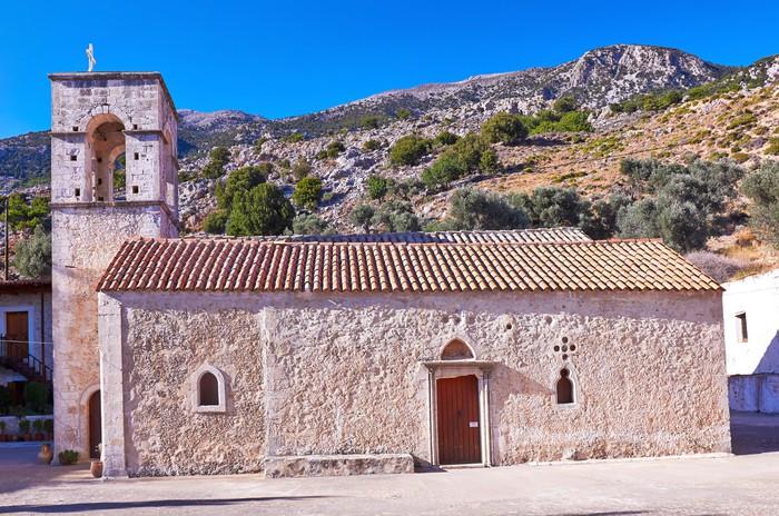 Vinylová Tapeta Agios Anthony Vrontisi klášter v blízkosti Zaros na Krétě, Řecko. - Evropa