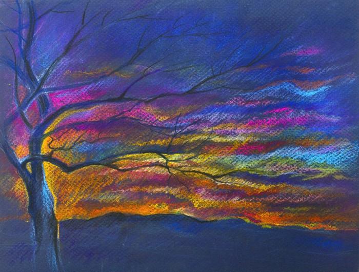 Vinylová Tapeta Dřevo malované pastel - Umění a tvorba