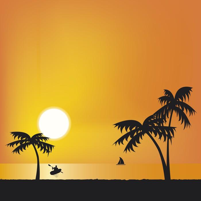 Vinylová Tapeta Florida Sunset Svoboda - Amerika