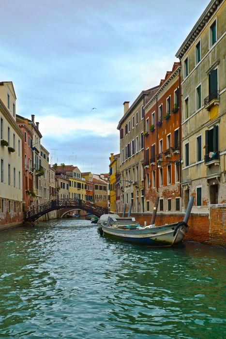 Vinylová Tapeta Canal v Benátkách a motorových člunů, Itálie, Evropa - Evropská města