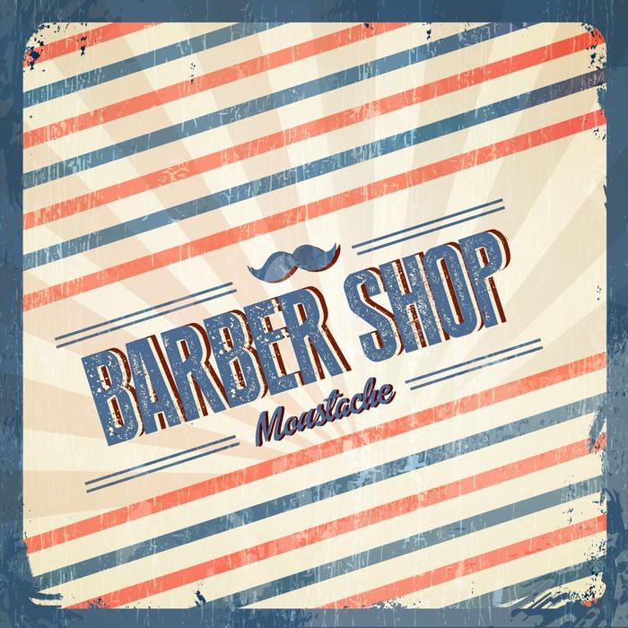 papier peint r tro barber shop vintage style pixers nous vivons pour changer. Black Bedroom Furniture Sets. Home Design Ideas