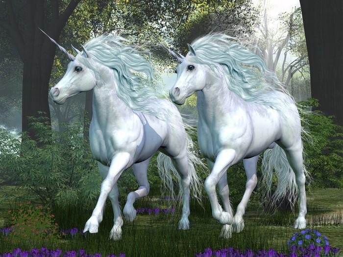 Nálepka Pixerstick Unicorn Elm Forest - Témata
