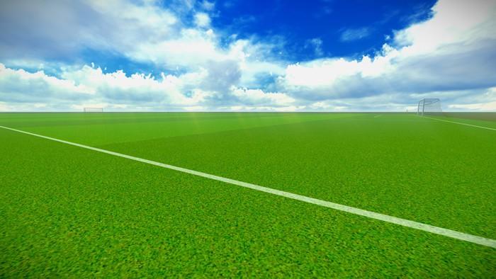 Vinylová Tapeta Fotbalové hřiště s cílem - Nebe