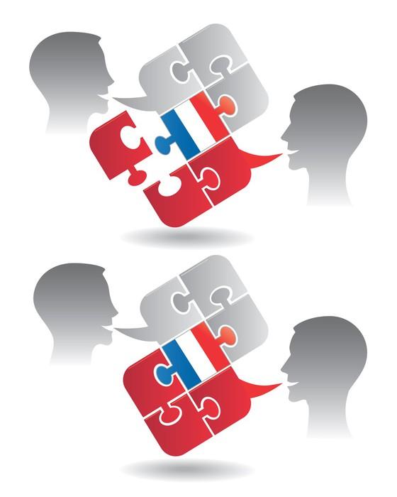 Vinilo Pixerstick Diálogo clases de francés • Pixers® - Vivimos para ...