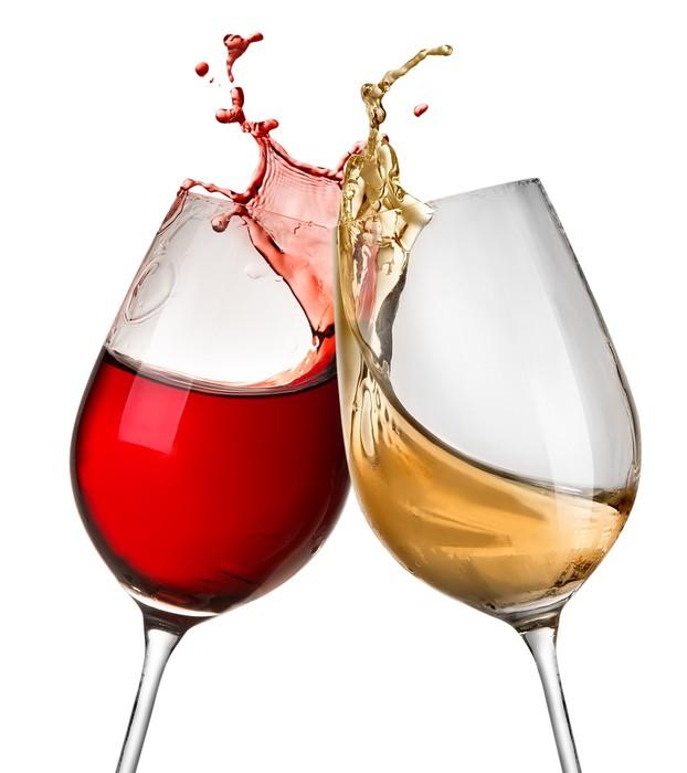 Fototapete Spritzer Wein In Zwei Weingl 228 Ser Pixers