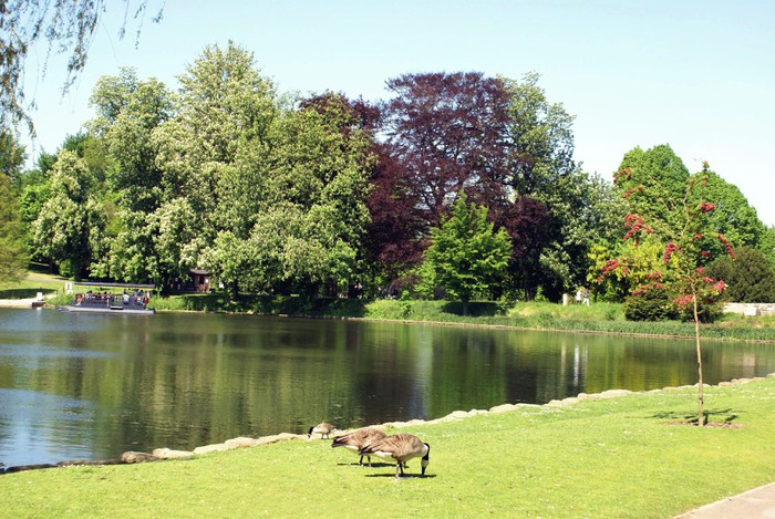 Vinylová Tapeta Jezero na Leeds zámecké zahradě, Kent, Anglie - Značky a symboly