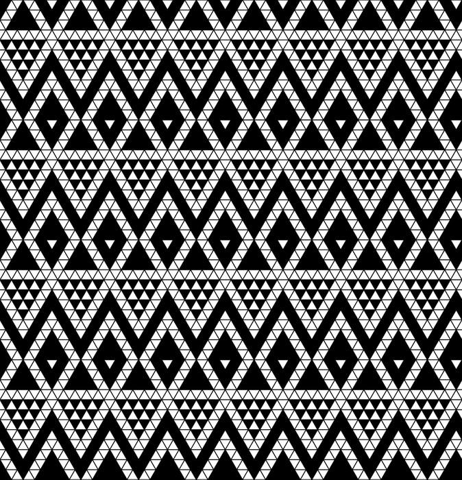 Vinylová Tapeta Tribal monochromatický krajky. Vektorové ilustrace. - Umění a tvorba