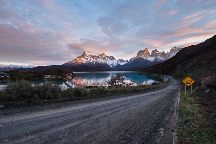 Nálepka Pixerstick Torres del Paine v dopoledních hodinách, Chile - Amerika